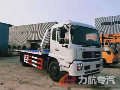 东风天锦7.2米大平板道路清障救援拖车