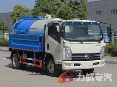 凯马清水1.8吨污水2吨清洗吸污车
