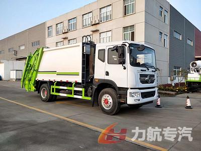东风D9系列12方压缩垃圾车带摆臂