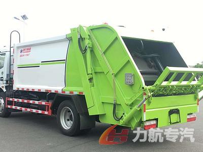 国六东风多利卡8方压缩垃圾车图片