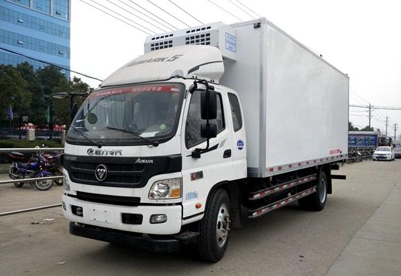 福田欧马可国六蓝牌4米2冷藏车价格