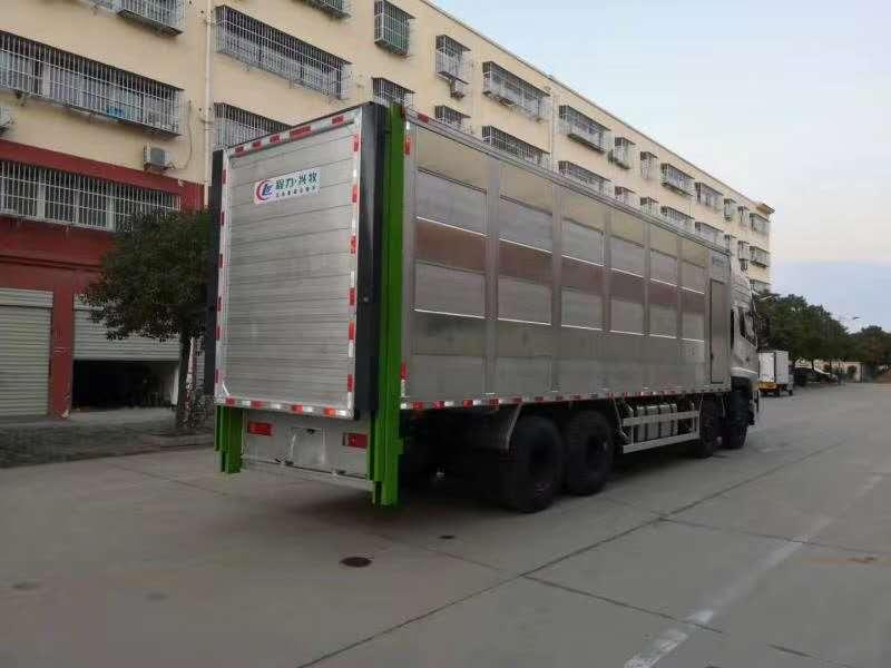 随州猪仔运输车厂家直销 鸡苗车 运猪车 畜禽运输车的优点 -东风天龙全铝合金运猪车