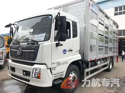 东风天锦畜禽运输车,国六全铝合金空调运猪苗专用车厂家价格