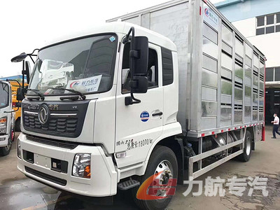 东风天锦铝合金畜禽运输车,运猪苗专用车高清图片