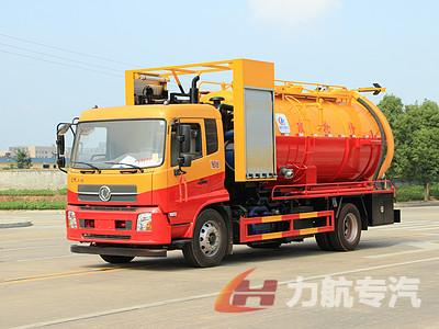 国六东风天锦市政抢修,清洗吸污车高清图片图片