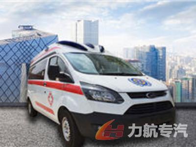 福特泰格红新全顺监护型救护车
