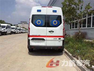 福特泰格红新全顺监护型救护车图片