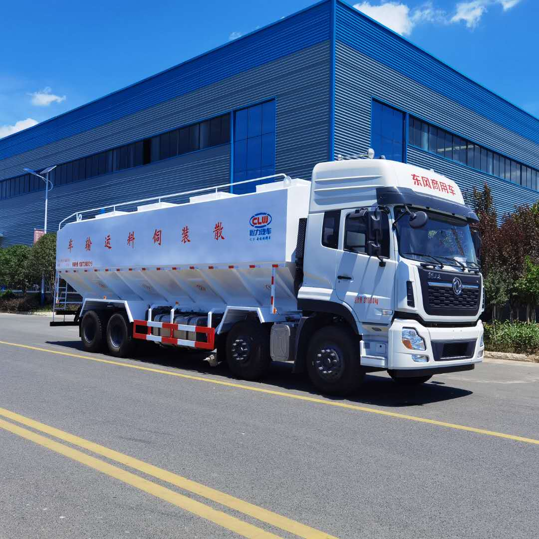 散装饲料车 东风散装饲料运输车 20吨散装饲料车