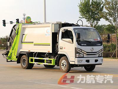 国六小多利卡压缩式垃圾车高清图片图片