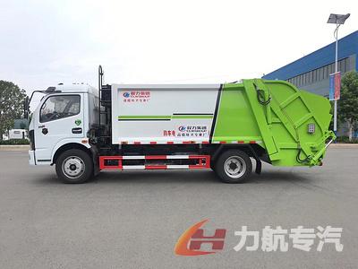 国六东风开普特多利卡8方压缩式垃圾车图片