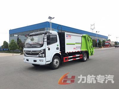 东风D9-12方压缩式垃圾车