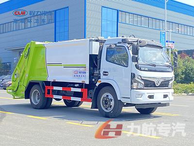 东风福瑞卡8方压缩垃圾车操作视频图片