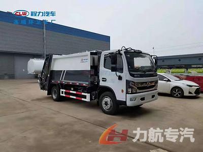 东风多利卡D7压缩式垃圾车,压缩垃圾车性能与特点图片