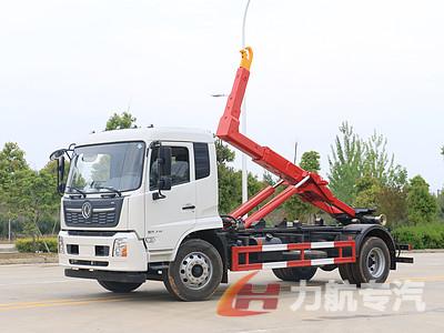 国六东风天锦14方勾臂垃圾车生产厂家-力航汽车网