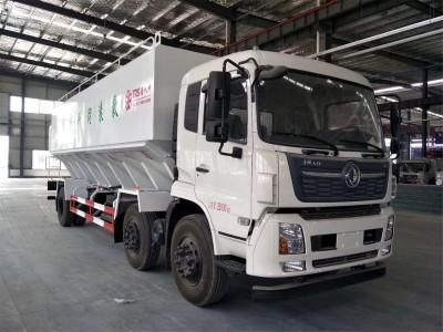30方15吨东风天锦小三轴散装饲料运输车价格