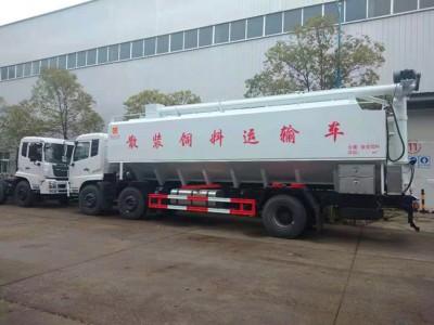 东风天锦小三轴铝合金饲料车厂家定制