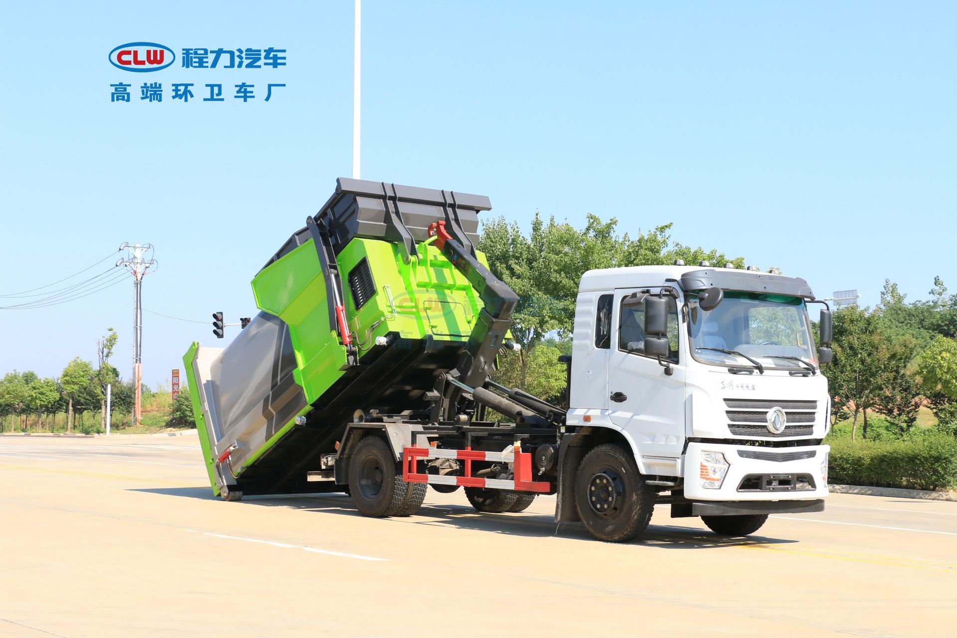 18方移动垃圾站实车装载力测试