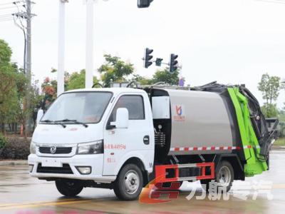 国六东风途逸4方压缩垃圾车