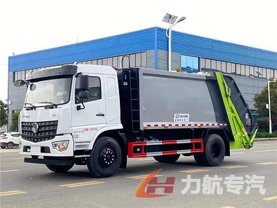 国六东风多利卡12方压缩式垃圾车生产厂家-力航汽车网