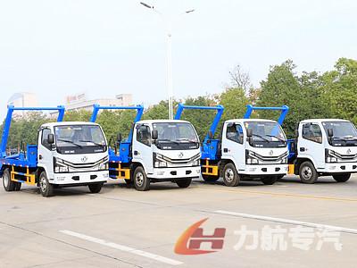 江苏苏州5方摆臂垃圾车,国六东风小多利卡摆臂垃圾车厂家直销图片