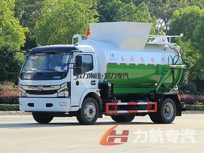 国六东风多利卡8方餐厨垃圾车生产厂家-力航汽车网
