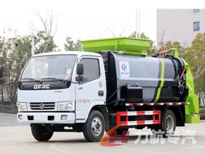 国六东风牌餐厨垃圾车厂家报价-力航汽车网