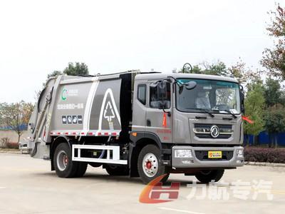 10方东风D9压缩垃圾车北京成功上户图片
