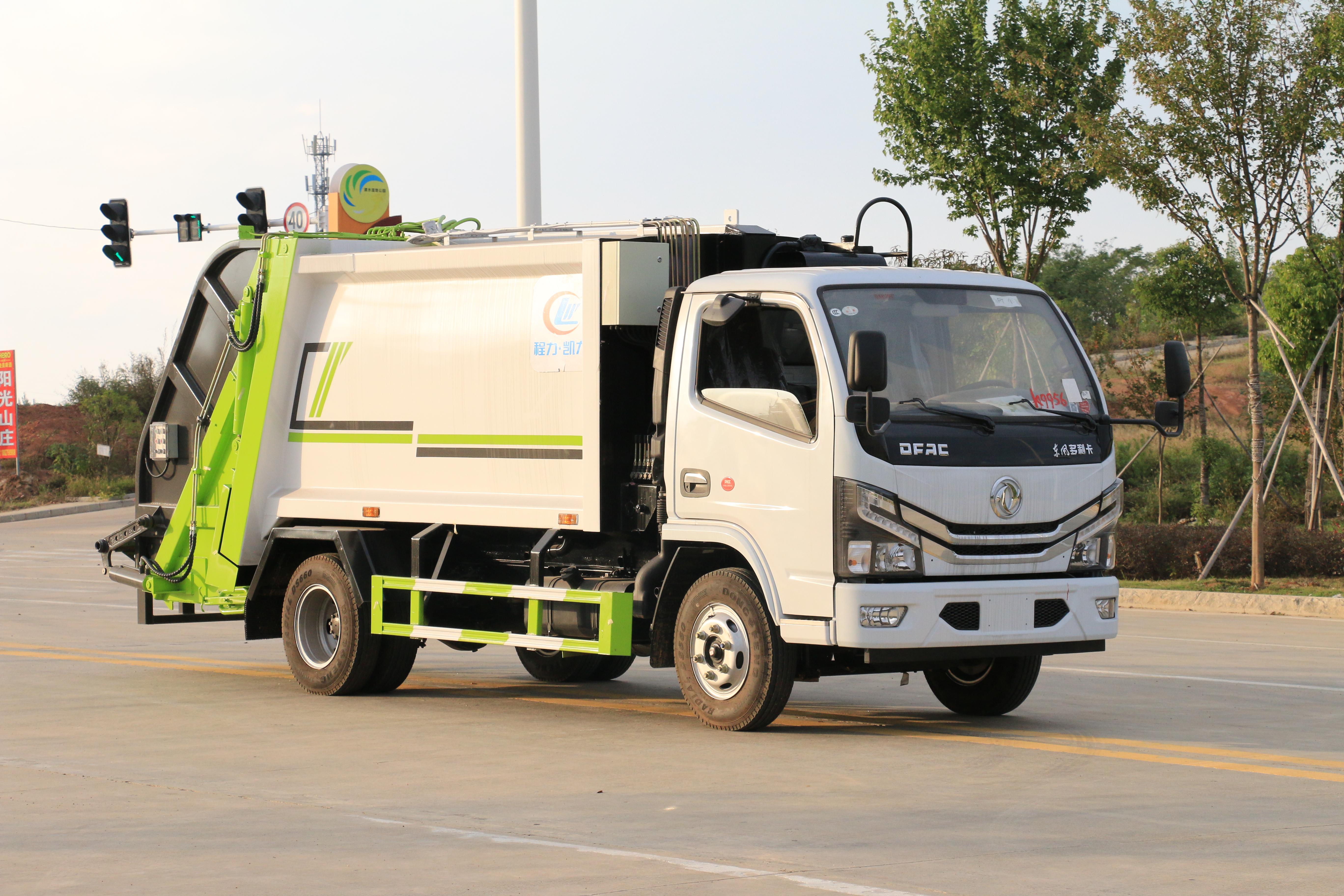 包头市东风福瑞卡6方压缩垃圾车优点