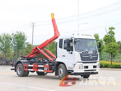 东风天锦套臂垃圾车实车装载测试图片
