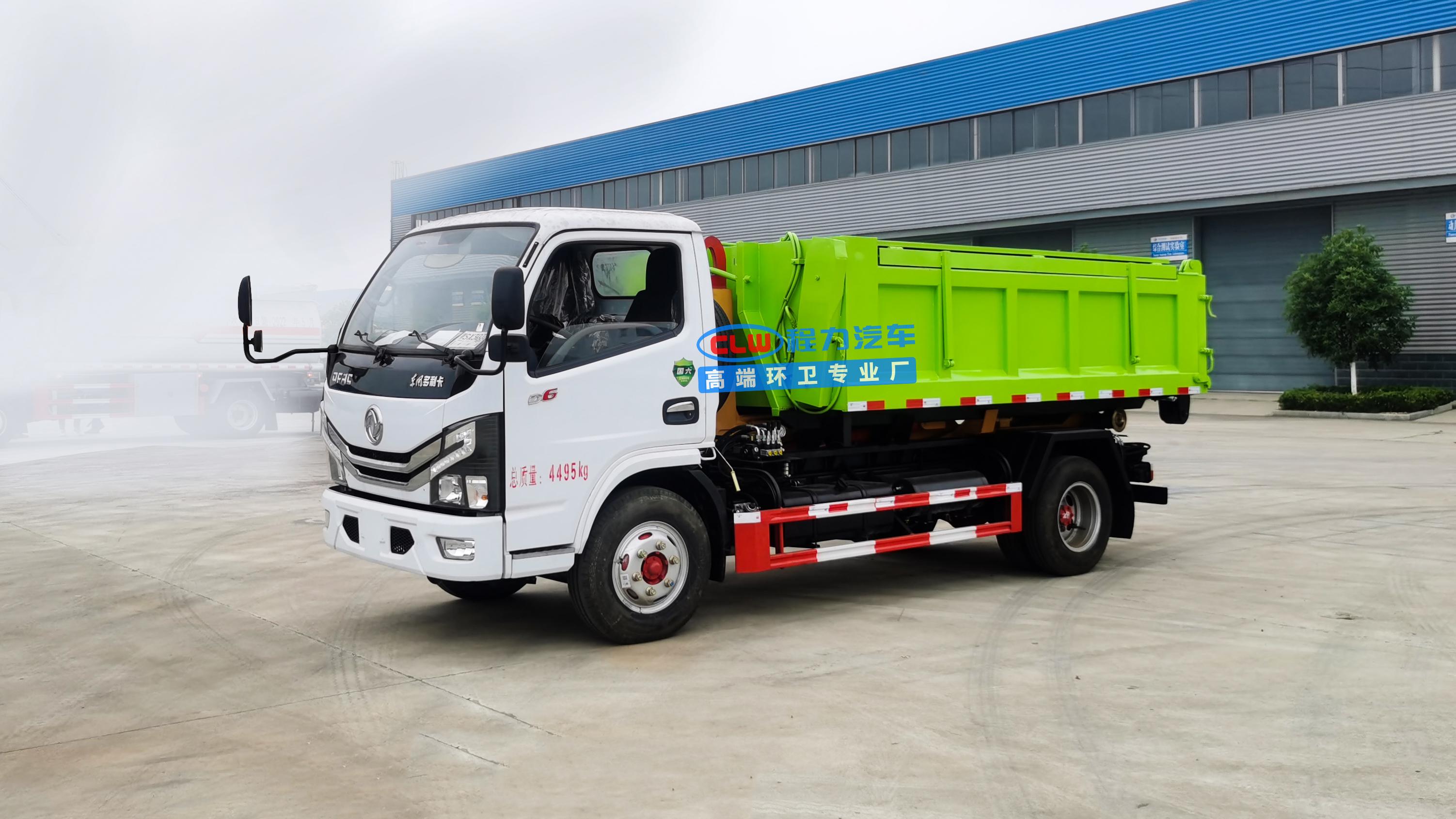 吉林省长春市直销东风小多利卡蓝牌套臂垃圾车