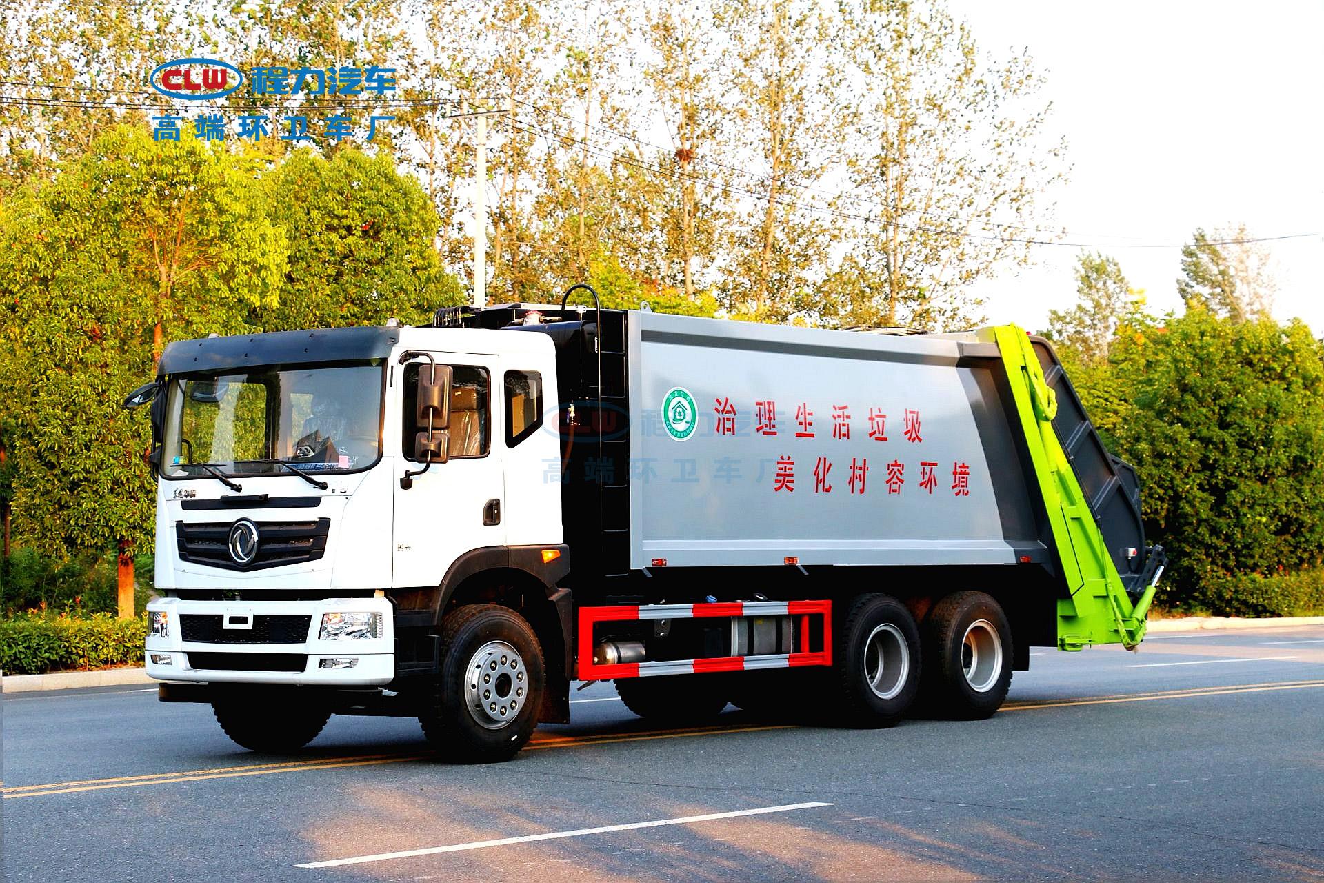 东风压缩垃圾车正确养护环卫车刹车制动很重要