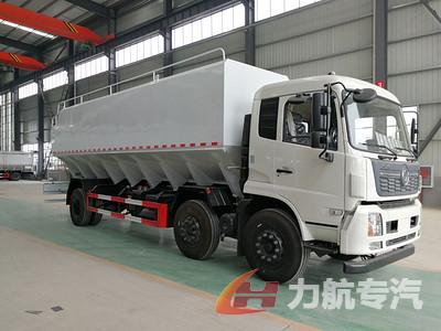 国六排放的东风天锦30方散装饲料车